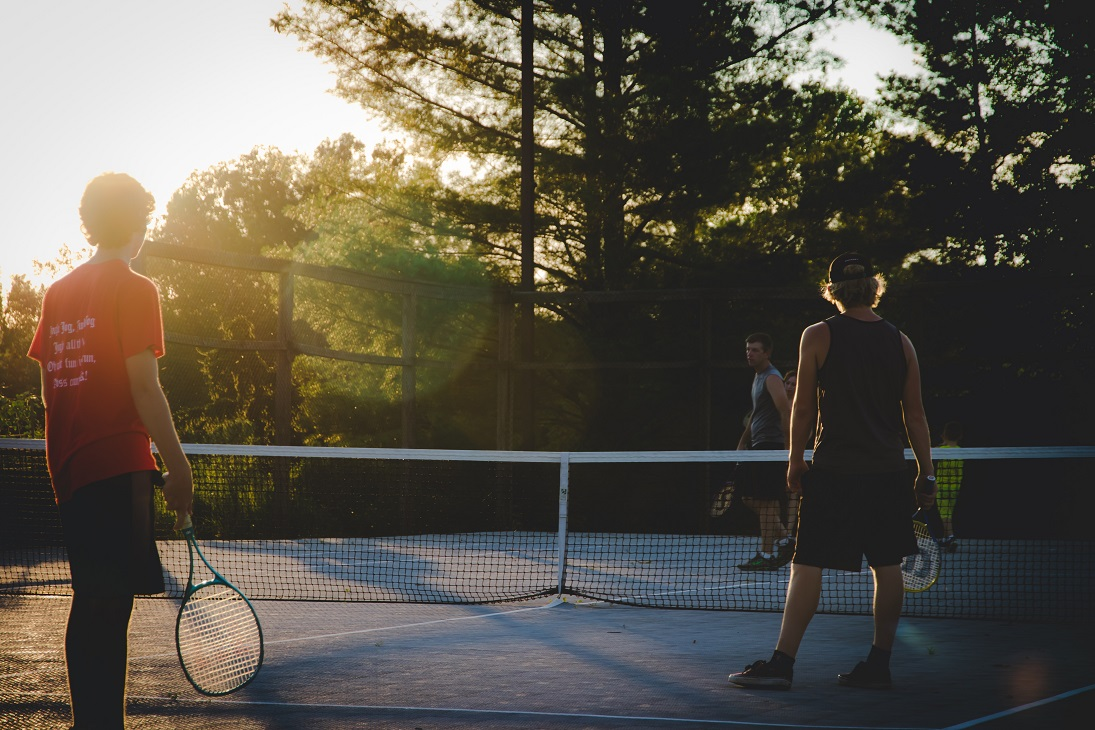photo of three men playing tennis 2568551